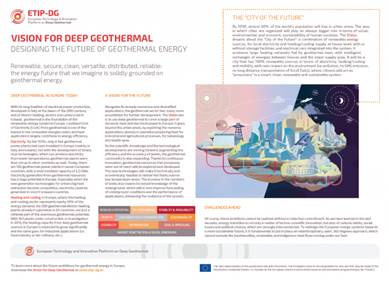 Designing the future of geothermal energy: Fact sheet on the vision for deep geothermal