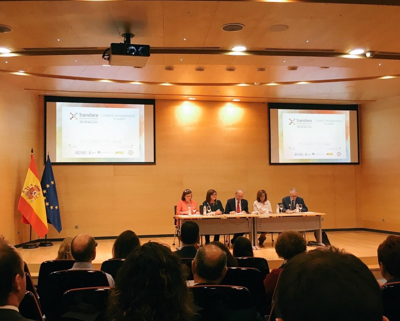 El Comité Organizador de Transfiere, del que forma parte GEOPLAT, se reúne para definir la estrategia de la edición 2020