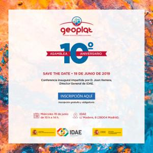 Save-the-Date-Asamblea-10º-Aniversario-GEOPLAT-19-6-2019