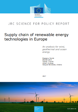 Supply chain of renewable energy technologies in Europe – an analysis for wind, geothermal and ocean energy