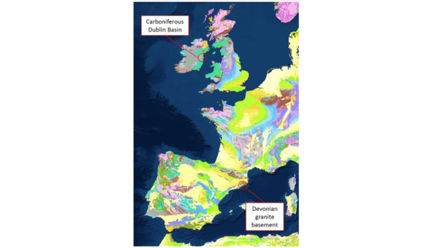 Imagen 1: Zonas de ensayo en Irlanda (Dublín) y España (el Vallés)