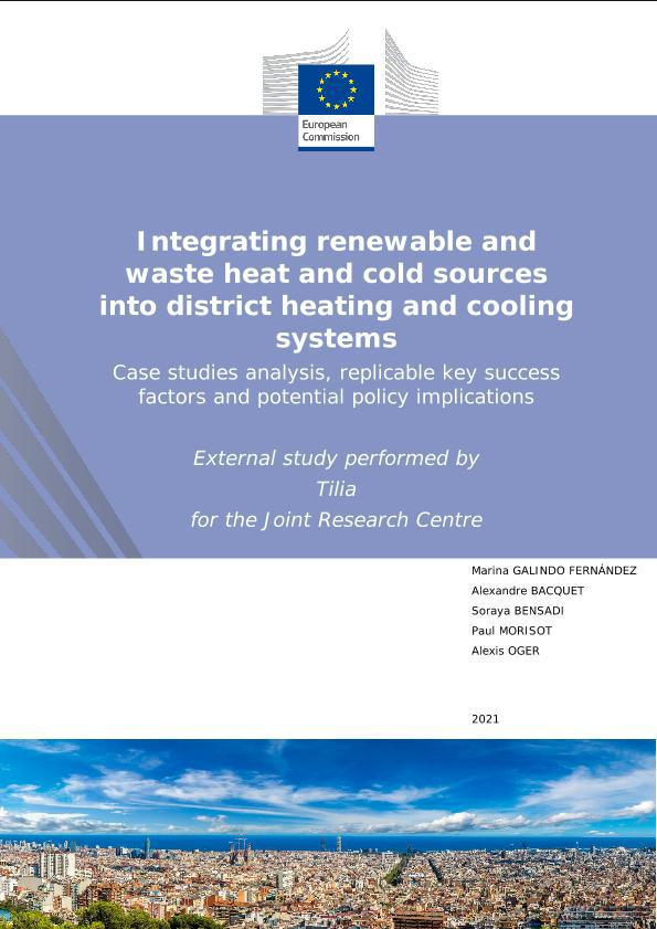 JRC – Integrating renewable and waste heat and cold sources into district heating and cooling systems
